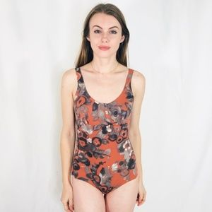 Vintage Floral Clay Monoch Swimsuit One Piece